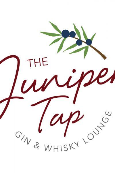 Juniper Tap Gin and Whiskey Lounge Logo Design