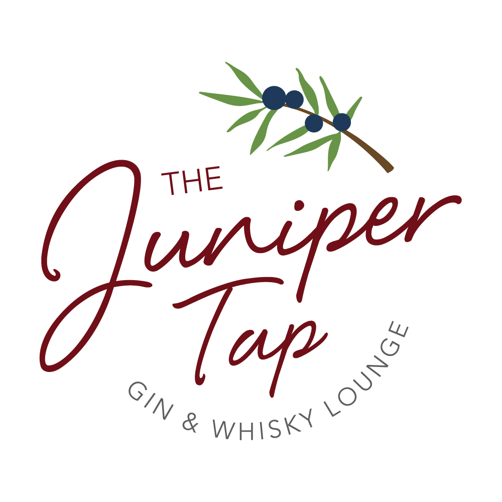 Juniper Tap Gin and Whiskey Lounge Logo Design