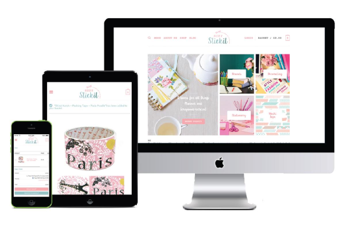 Suzy Stick It website design