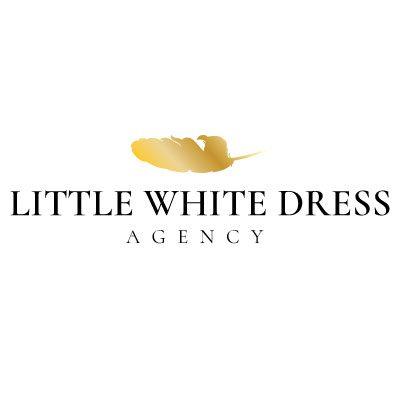 Little White Dress Agency Gold Feather Logo Design