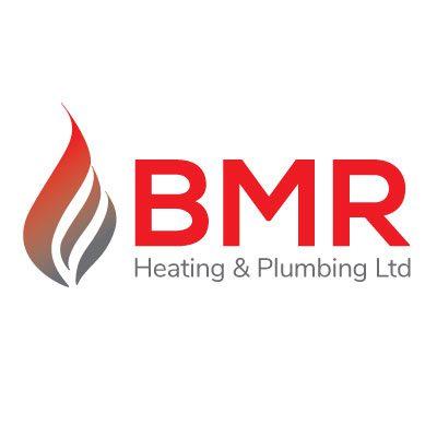 bmr heating and plumbing logo design