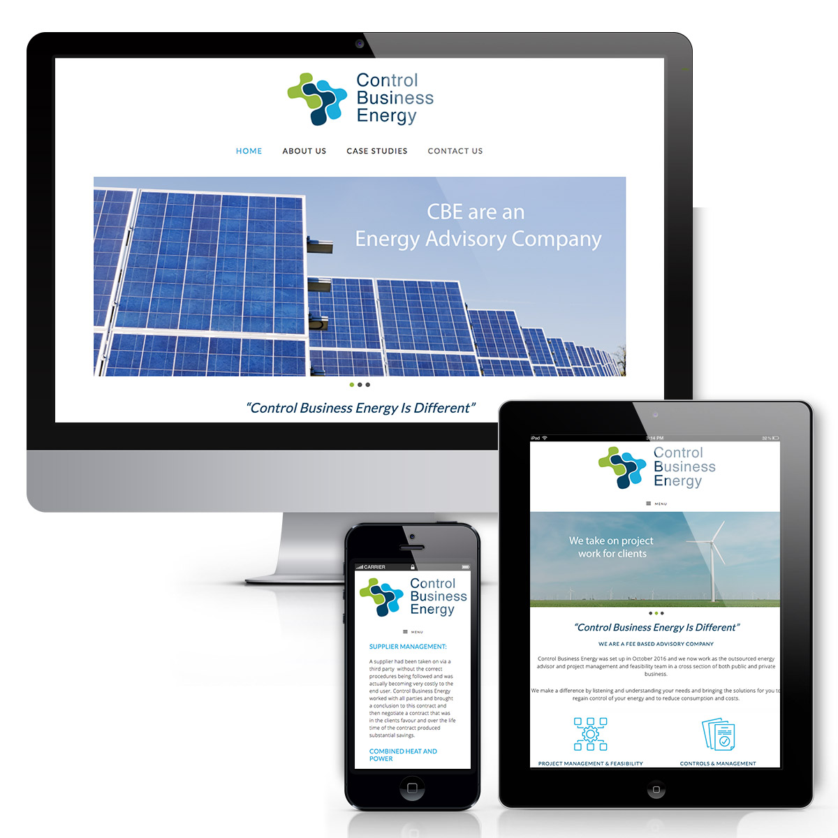 Website Design for Control Business Energy