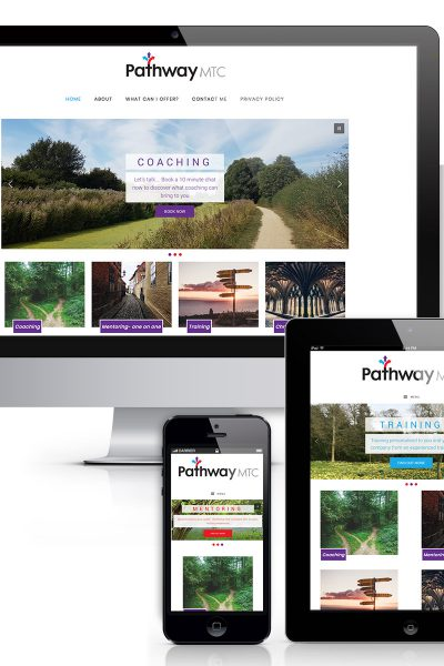Website design for Grantham business mentor company Pathway MTC