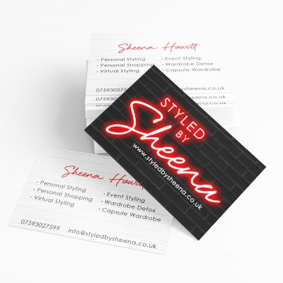 Styled by Sheena Business Cards