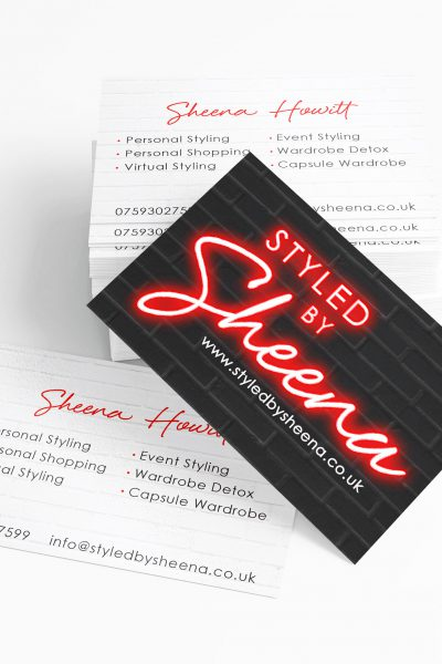 Styled by Sheena business card design and print