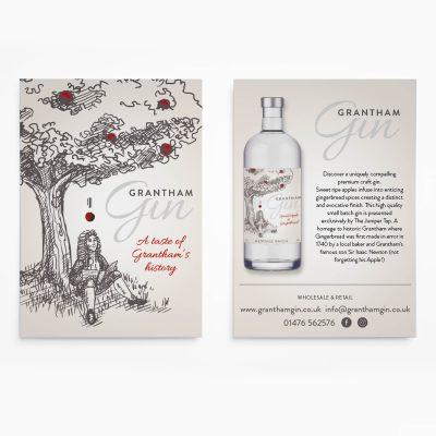 Grantham Gin Leaflet Design