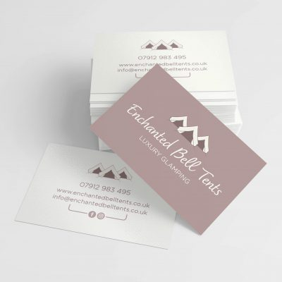 Enchanted Bell Tents Business Card Design