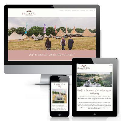 Enchanted Bell Tents Website design