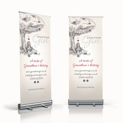 Grantham Gin Exhibition Banner Design
