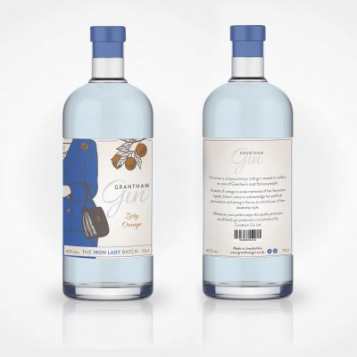 Grantham Gin Label Design