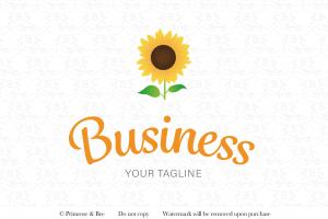 sunflower pre-designed logo yellow flower