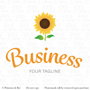 sunflower pre-designed logo yellow flower