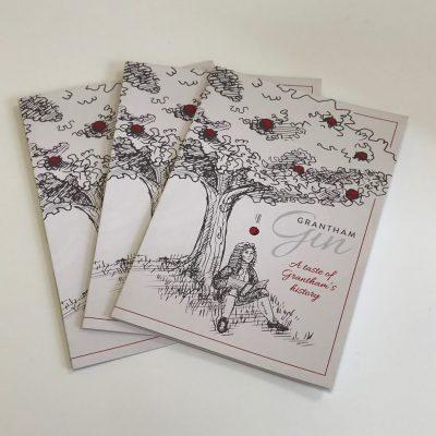 Grantham Gin Folded Leaflets