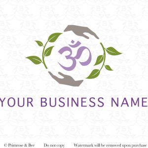 Pre Designed Logo Yoga Om Healing hands