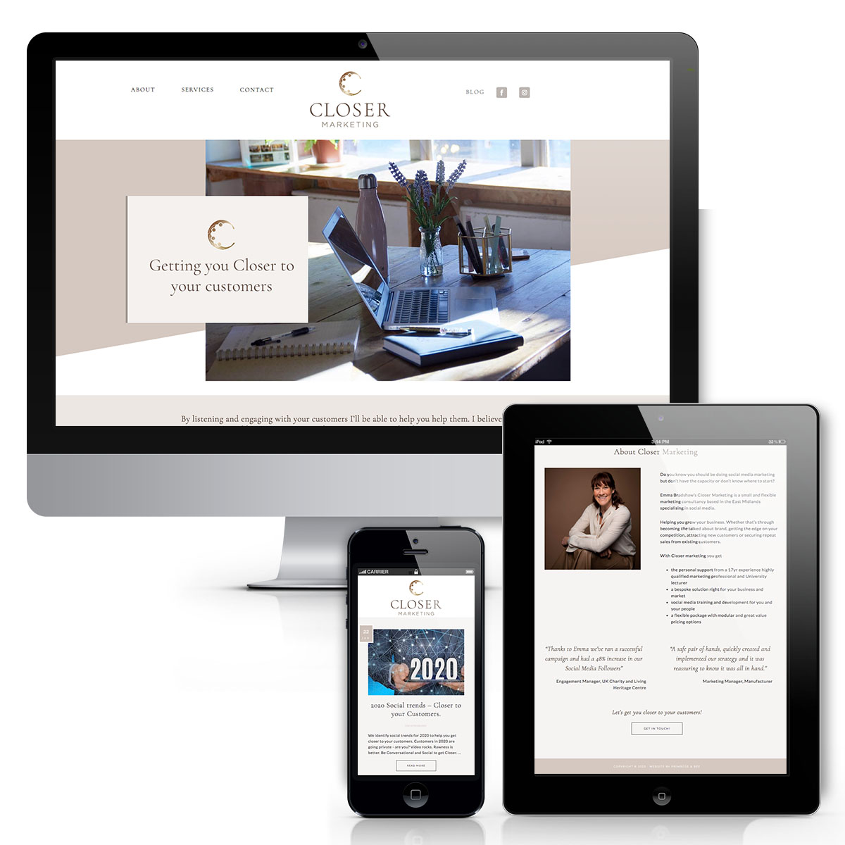 Closer Marketing Website